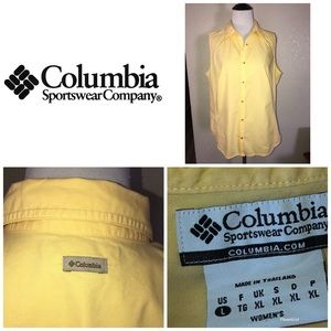 COLUMBIA Women's sleeveless button up sz L